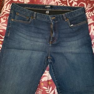 Chaps Size 16 Modern Straight Blue Jeans